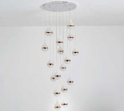 Современный золотой капли воды матовый K9 кристалл Stainess стальной подвесной светодиодный светильник роскошный прозрачный светильник для столовой комнаты и прихожей