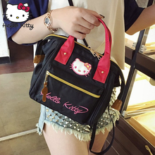 Hello Kitty Bag Fashion Shoulder Backpacks Canvas Kawaii Girls Crossbody Schoolbag Cartoon Small Kids Plush Bags Children