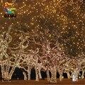 10 M 100 LED Plug UE Luzes De Fadas Festa de Natal Do Jardim Ao Ar Livre Iluminação Do Feriado de Natal Decoração Da Árvore de natal Corda Lâmpada Guirlanda aniversário
