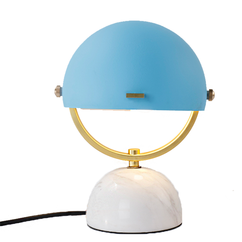 Helmet Table Lamp Mini Marble Table Lamp Personalized Desk