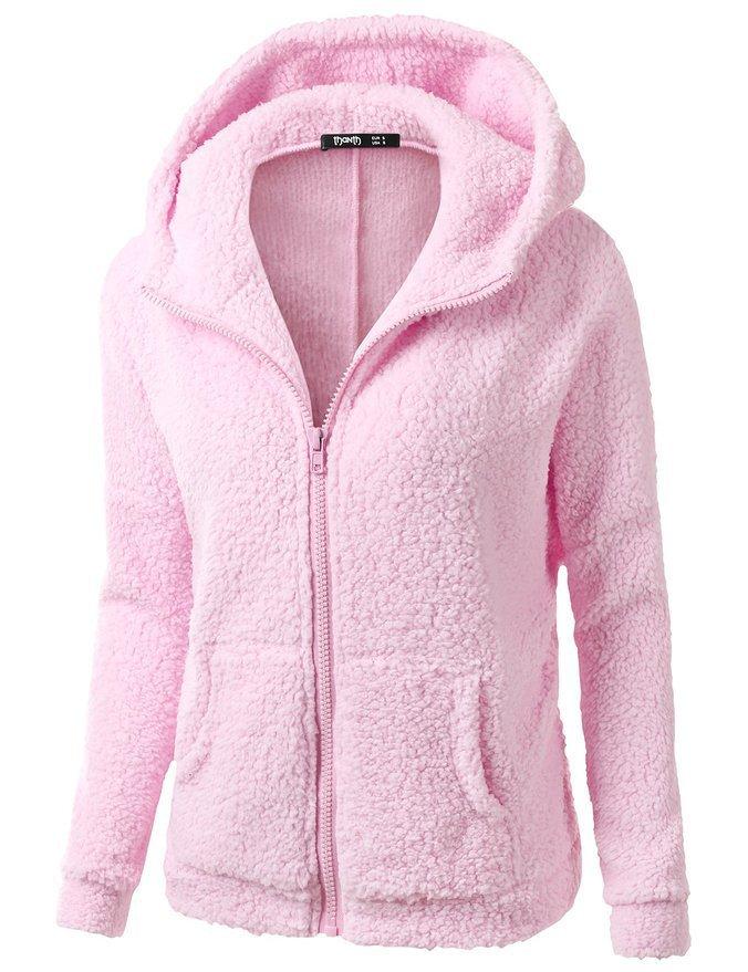 2019 neue Heißer Verkauf Frauen Langarm Warme Fleece Hoodies Jacken Mäntel Fashion Casual Damen Hohe Qualität Jacken 89- 26