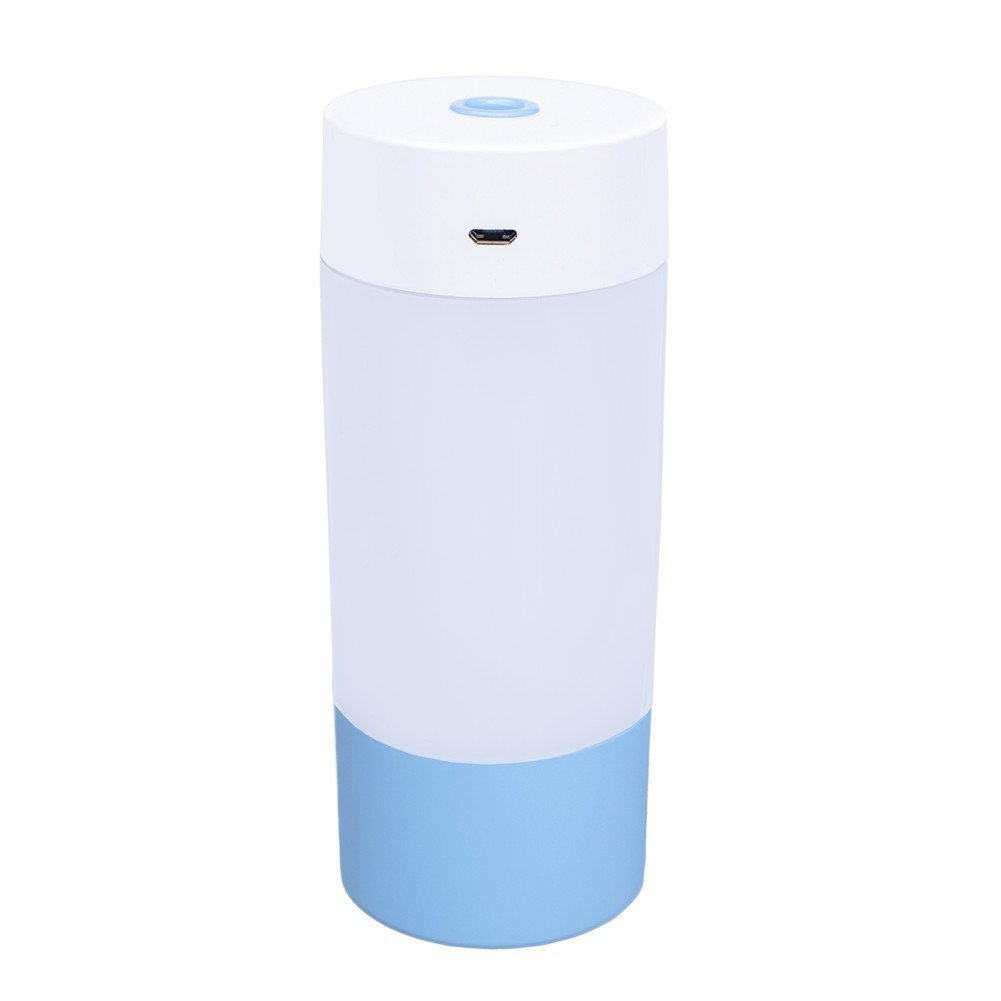 250ML Ultrasonic Cool Mist Humidifier Durable Humidifying Unit with Night Light and Auto Shut-off Function