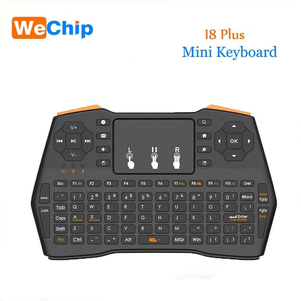 I8 Plus Drahtlose Tastatur 2,4 GHz Russisch oder Englisch Tasten Air Maus Fernbedienung Touchpad Für Android Tv Box Notebook tablet Pc