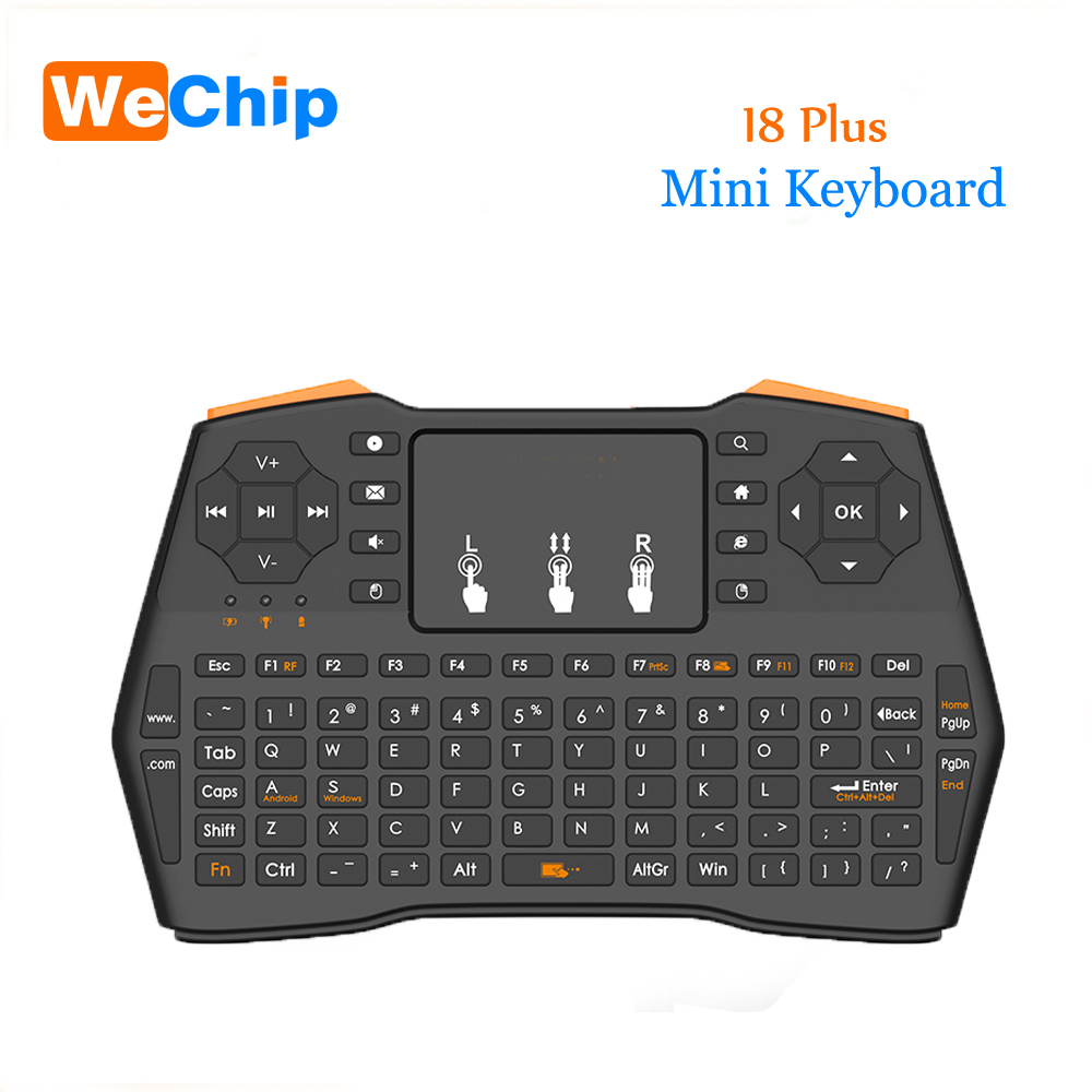 I8 Plus Wireless Keyboard 2.4GHz Russian Or English Keys Air Mouse Remote Control Touchpad For Android Tv Box Notebook Tablet Pc