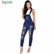 078946e34f5c JAYCOSIN denim jeans panty women Plus Size Loose Jeans Romper Women Strap Denim  Jumpsuit Large Size Ripped Hole Pants Jeans N08