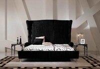 Дизайнер кровать из современной ткани/мягкая кровать/двуспальная кровать king size мебель для спальни