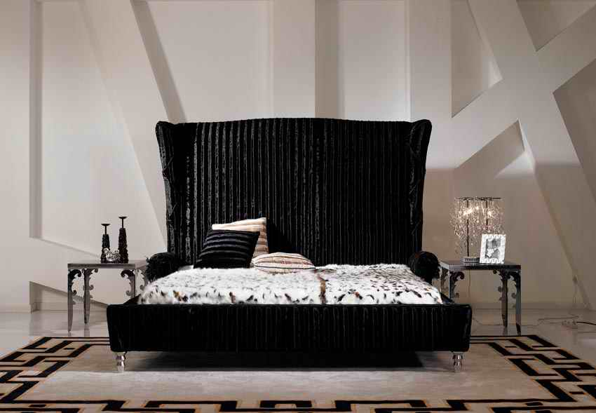 купить designer modern fabric bed / soft bed/double bed king size bedroom furniture дешево