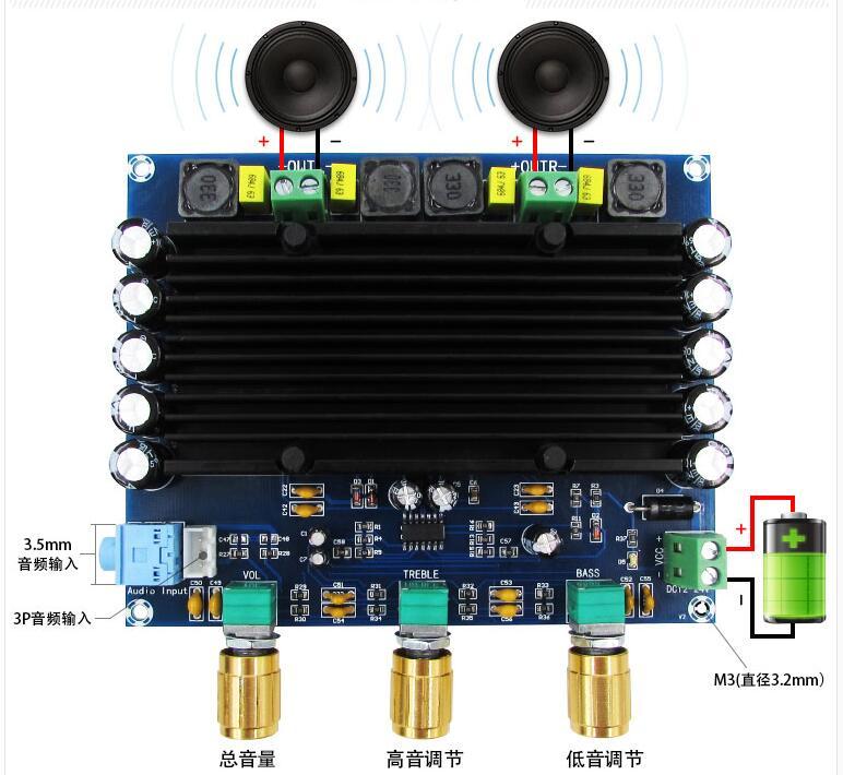XH-M549 with tone 2x150W TPA3116D2 digital audio hifi amplifier board 2.0 channel TPA3116XH-M549 with tone 2x150W TPA3116D2 digital audio hifi amplifier board 2.0 channel TPA3116