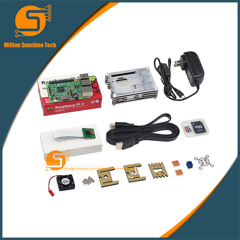 UK RS Version  Raspberry Pie Kit 3B Raspberry Pi 3 Learning Linux Programming Development Board onboard Bluetooth free shipping карандаш для век тон 22 limoni