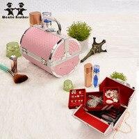 Hot Sale Pillow Design Aluminium Alloy Make Up Box Makeup Case Beauty Case Cosmetic Bag Multi
