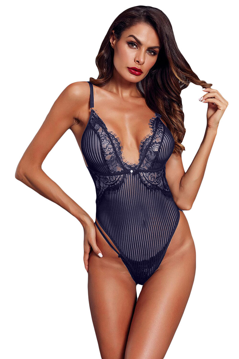 Blue-Striped-Mesh-Bodysuit-LC32223-5-1