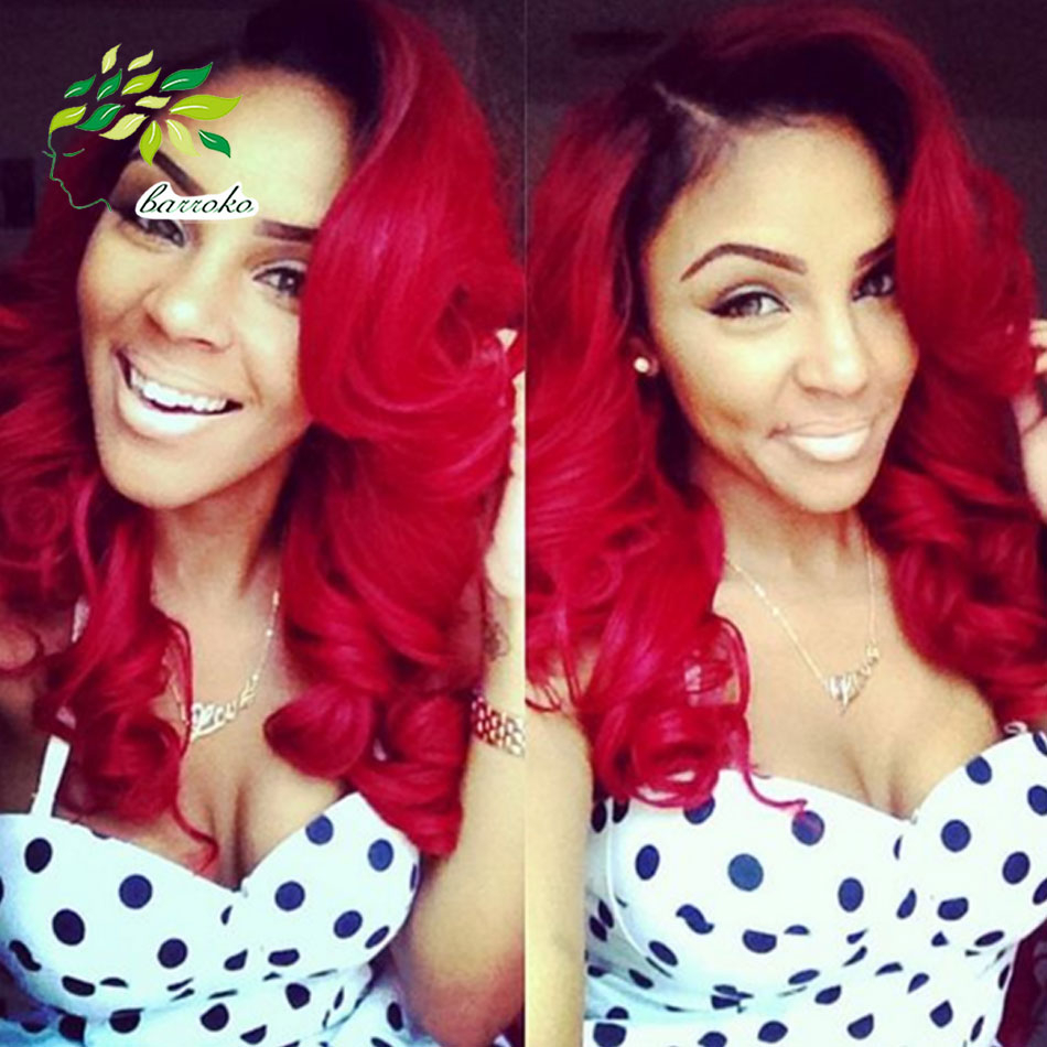 Brazilian Ombre Short Hair Extensions Body Wave 1b Red Weave Human 2016 Trendy Bob Hairstyles Virgin On Aliexpress Alibaba