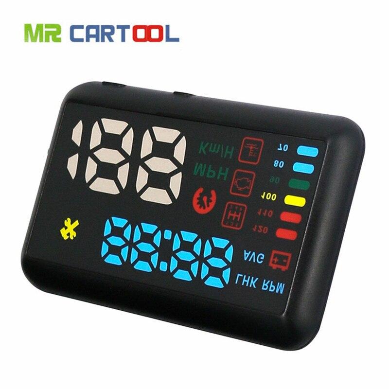 Цена за 2017 недавно autool X200S автомобилей HUD Head-Up Дисплей OBDII Скорость предупреждение Температура воды KMH/миль/ч Дисплей Цифровой автомобиль Скорость ometer