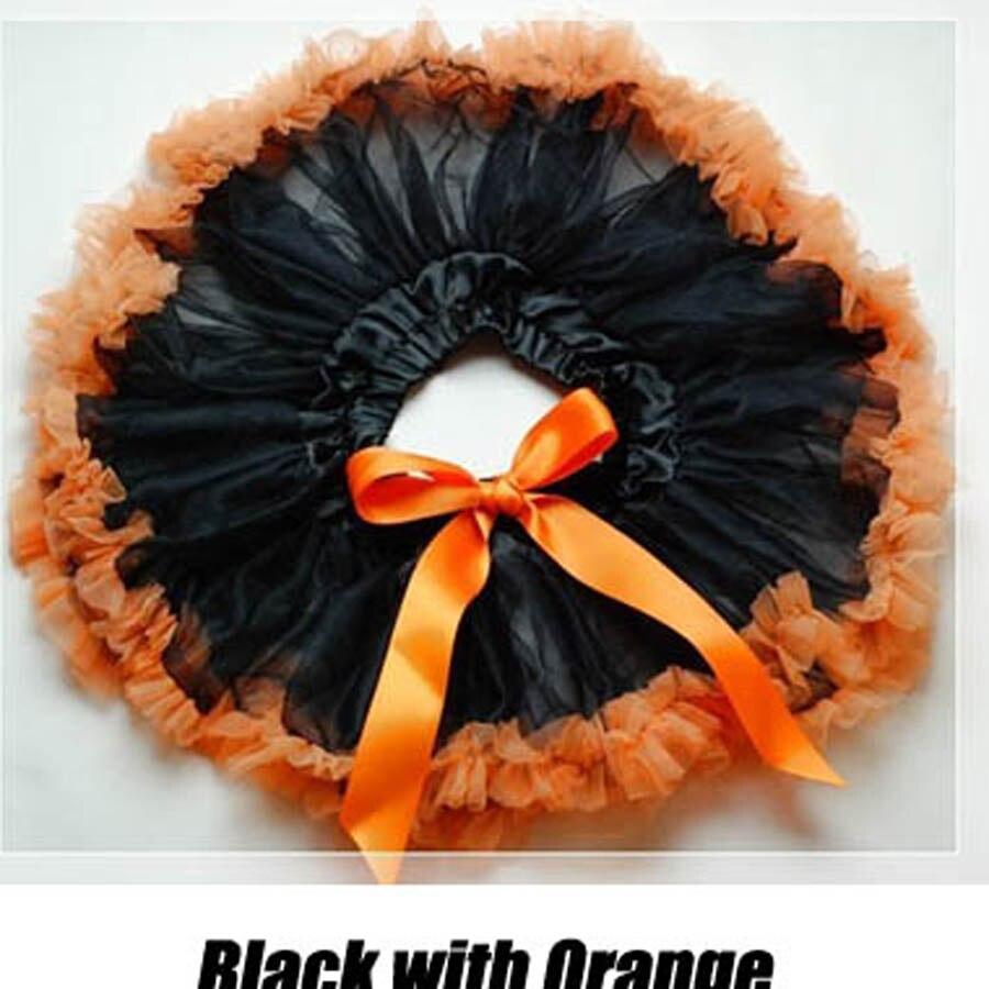 Черный шифон Пышная юбка для малышки детские юбки-американки фатиновая юбка Хэллоуин пачки