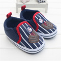 Navy Blue Baby Boy Shoes First Walkers Spring Autumn Soft Sole Slip-On Boys Girls Kids Infant Toddler Classic Sports Sneakers
