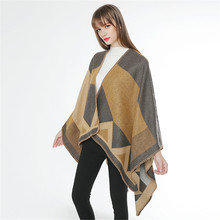 TOLINA Sexy Medieval retro style Women Knitted Cashmere Poncho Capes Shawl Cardigans