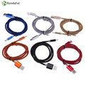 Rondaful 1 m usb 3.1 tipo c cable de carga de nylon trenzado de metal plug/tipo c cable de datos para xiaomi 4c/onplus2/sonyzuk z1