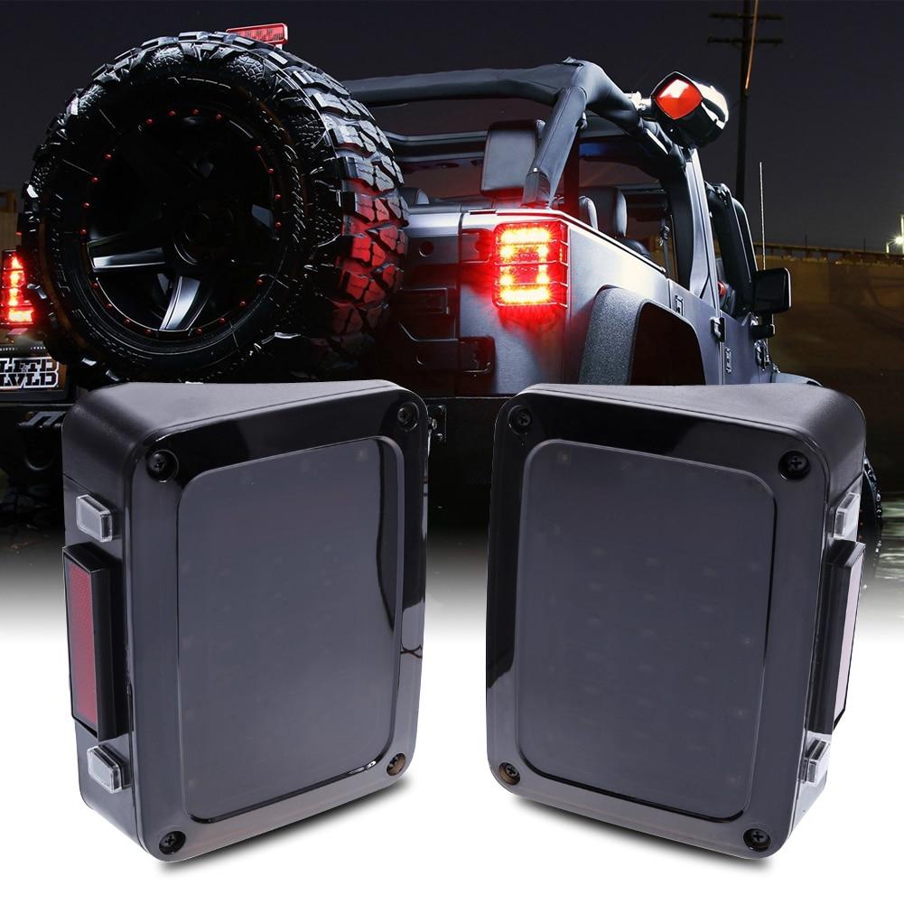 2 pcs Brake Turn Signal LED Rear Tail Light for Jeep Wrangler LED Tail Light with Brake Turning Reverse Light US
