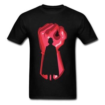 Black Red Outline Tshirt One Punch Man Tshirt For Student Men's Fashion Anime Cosplay T Shirt 90s Cartoon Print T-Shirt
