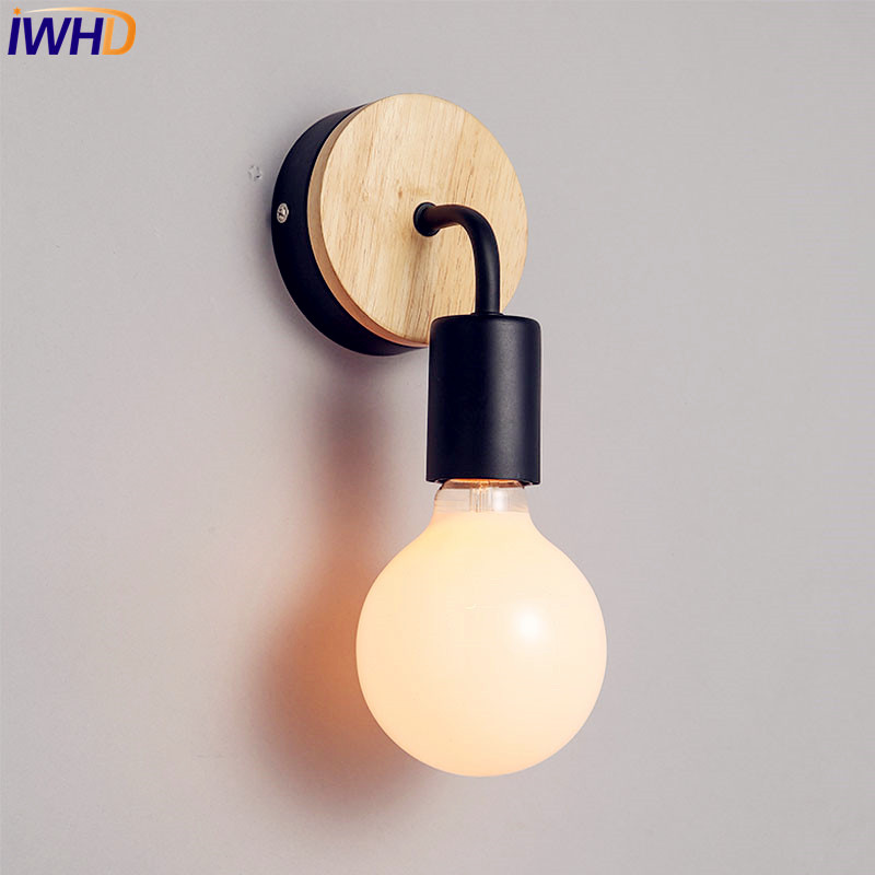 IWHD Wooden Metal LED Modern Wall Lamp Living Room Bedroom LED Wall Lights Fixtures Sconce Arandelas Lampara Pared|lampara pared|led wall light fixture|modern wall lamp - title=