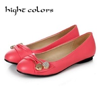 HIGHT COLORS Summer Ladies Shoes Ballet Flats Women Shoes Woman Ballerinas Black Large Size 43 47