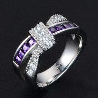 Choucong צלב נשי אופנה 3 צבעים Cz קריסטל 316L נירוסטה המפלגה טבעת אירוסין טבעת נישואים לנשים גברים ומתנות