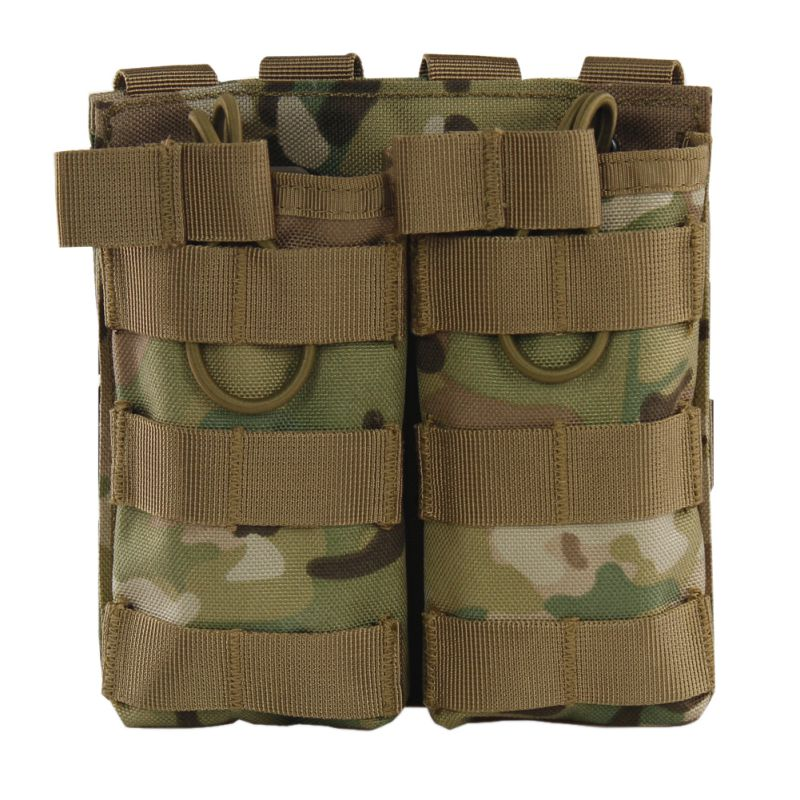 Outdoors Tactical MOLLE Double Open Top Mag Pouch M4/M16 Magazine Pouch Airsoft Military Paintball Gear Outdoor military gear airsoft paintball rifle pistol magazine pouch tactical safariland m4 aug magazine drop leg holster