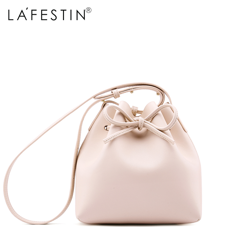 LAFESTIN Luxury Bucket Shoulder Women Genuine Leather Bag 2017 Fashion Designer Crossbody Bags Brands Women Bag bolsa Female lafestin luxury shoulder women handbag genuine leather bag 2017 fashion designer totes bags brands women bag bolsa female