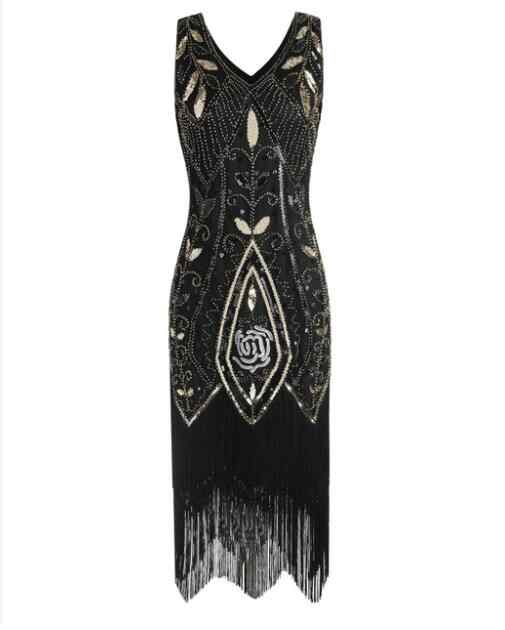 factory drop shipping Women 1920s Flapper Dress Gatsby Vintage Plus Size  Roaring 20s Costume Dresses Fringed for Party Prom