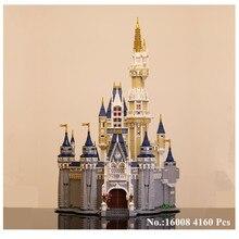 H & HXY в наличии 16008 4160 шт. Золушка Принцесса модель замка строительные наборы блок кирпичи игрушечные лошадки 71040 подарок Лепин