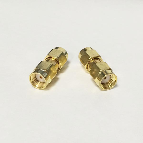 1pc RP-SMA Male Plug to RP SMA Plug female pin RF Coax Adapter coupler Straight Goldplated NEW wholesale 50pcs sma mmcx adapter mmcx male plug to sma plug male straight rf adapters