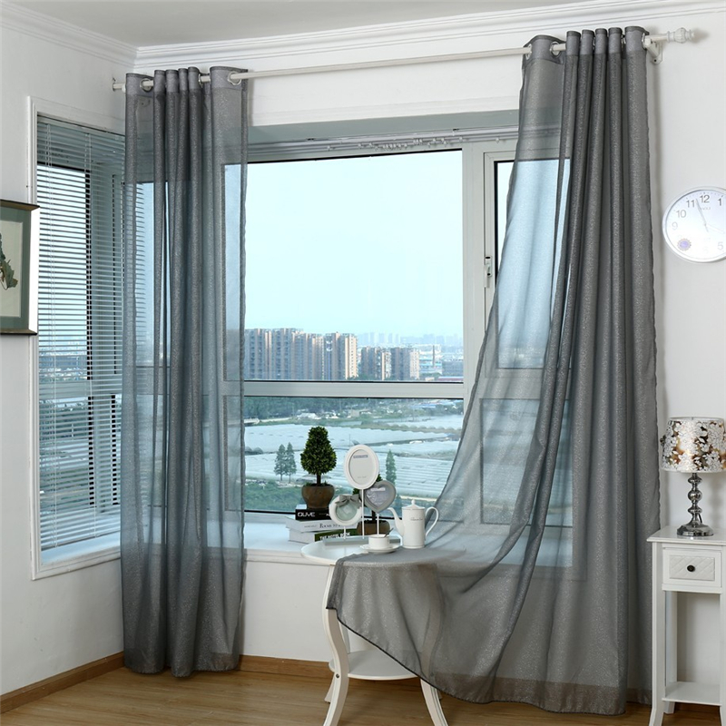 Delightful 2015 Fashion Product Customized Curtains Refined High Grade Light Grey  Sheer Curtain For Living Room
