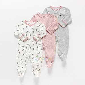 Image 2 - Baby Girl Romper Newborn Sleepsuit Flower Baby Rompers Infant Baby Clothes Long Sleeve Newborn Jumpsuits Baby Boy Pajamas