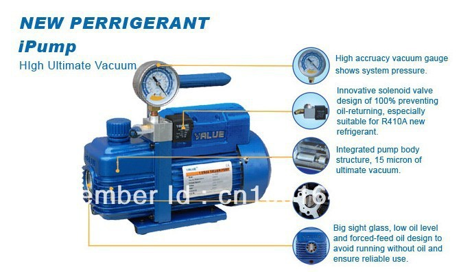 New Refrigerant Vacuum Pump Suit For R410a R407c R134a R12