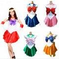 7 deguisement adultes sexy disfraces de halloween para las mujeres de color serie anime sailor moon cosplay del traje encantador de la muchacha disfrace
