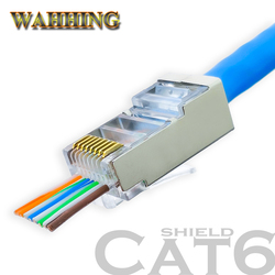 50/100 قطع موصل rj45 cat5e cat6 شبكة موصل المحطات plugutp 8pin rj45 محمية وحدات حفرة HY1549