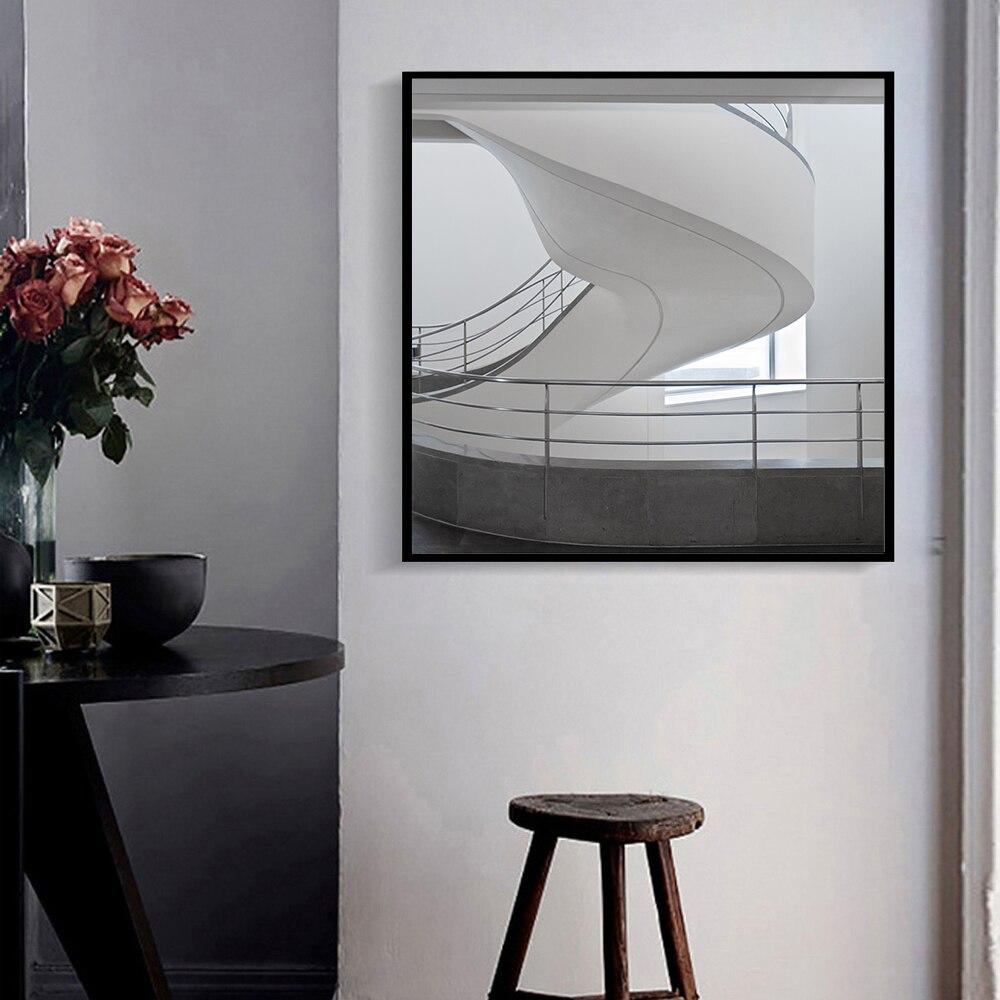 3D Kreative Design Schwarz Und Weiß Raum Leinwand Kunstdruck Malerei ...