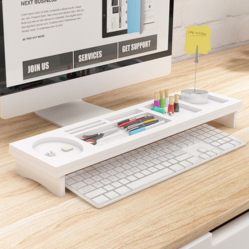 computer home shaped rotating office shelves l with corner decor organizer desk homcom shelf white storage