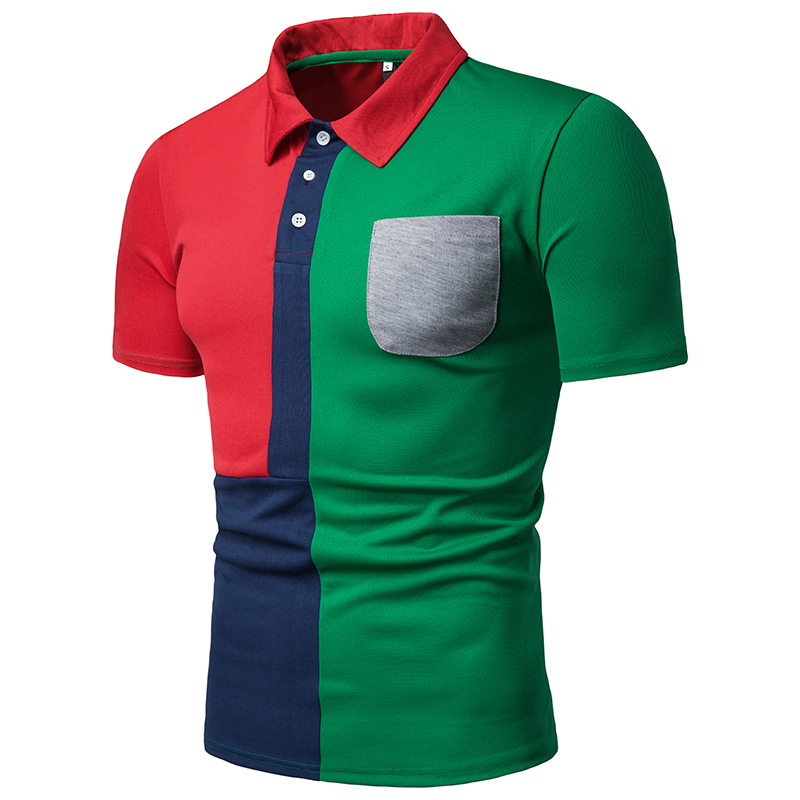 Summer European code fashion casual Slim short-sleeved breathable and quick-drying   Polo   shirt high quality brand shirt