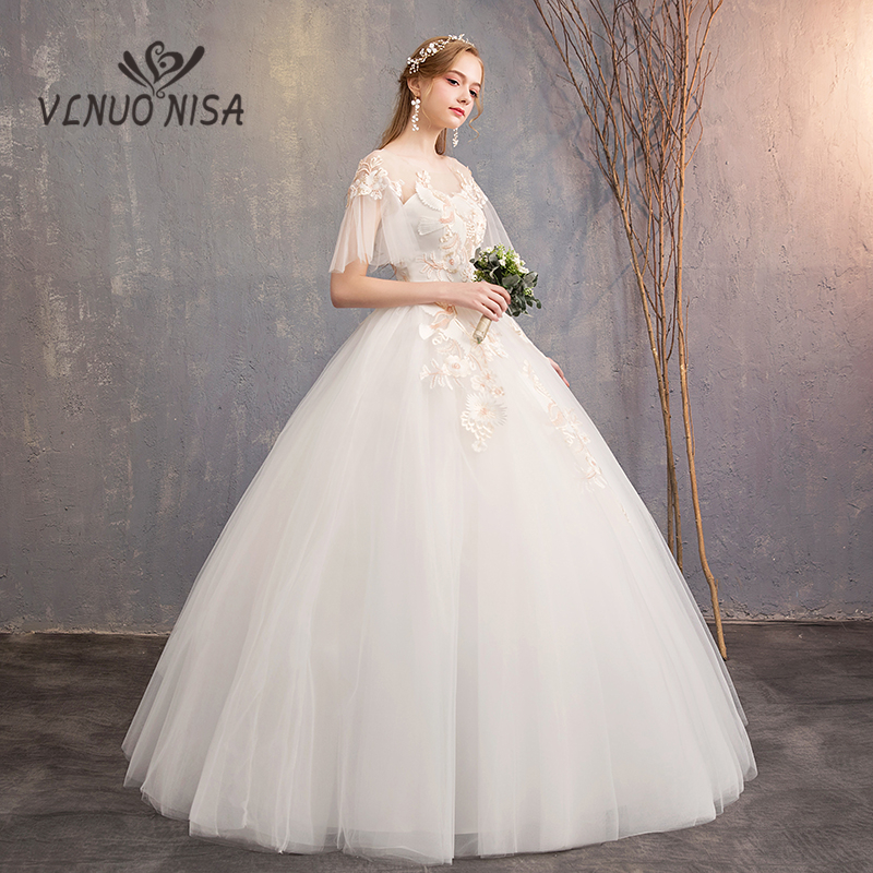 VLNUO NISA Sweet Wedding Dress Classic Embroidery Flower and Bird Pattern Bride Gown Plus Size Princess Vestido De Noiva 20