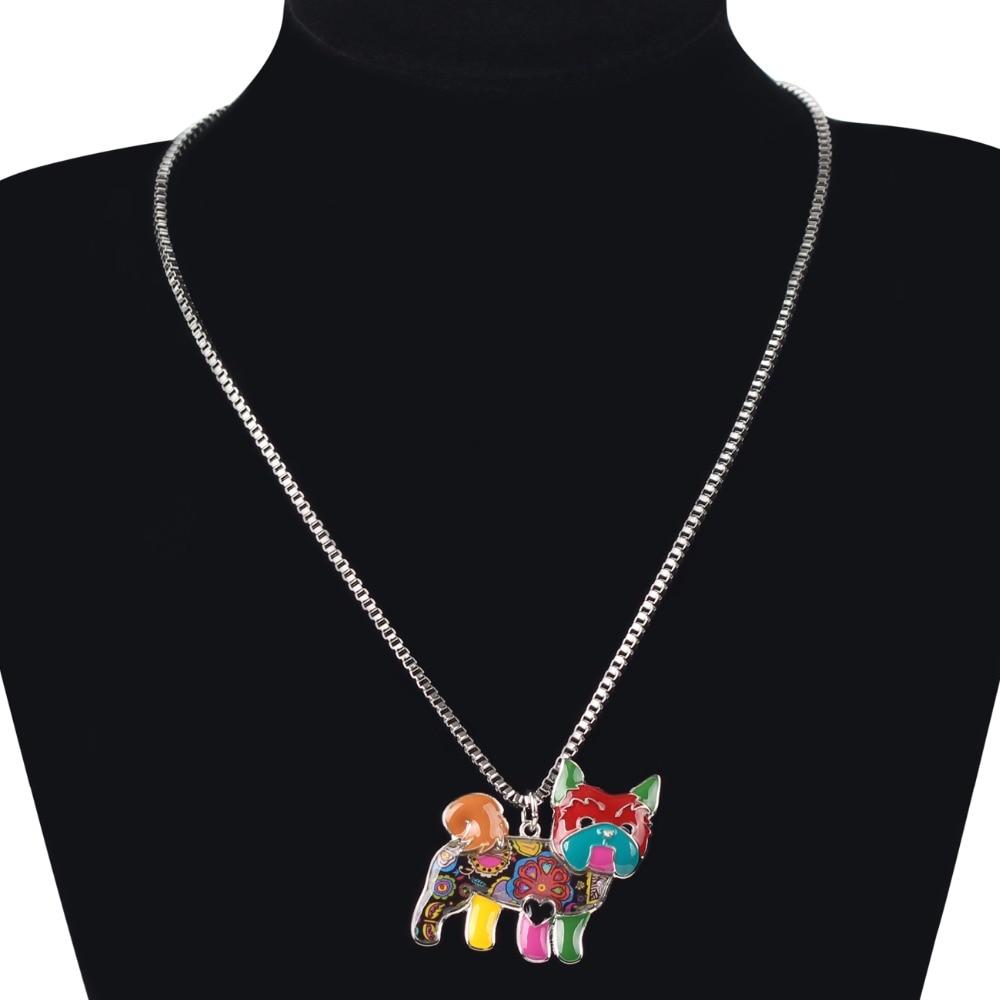 Bonsny Maxi Izjava Legura Yorkie Yorkshire Pasa za ogrlice za ogrlice - Modni nakit - Foto 6