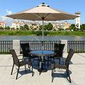 2.7 meter brushed aluminum outdoor sun umbrella patio covers garden parasol sunshade ( no base )