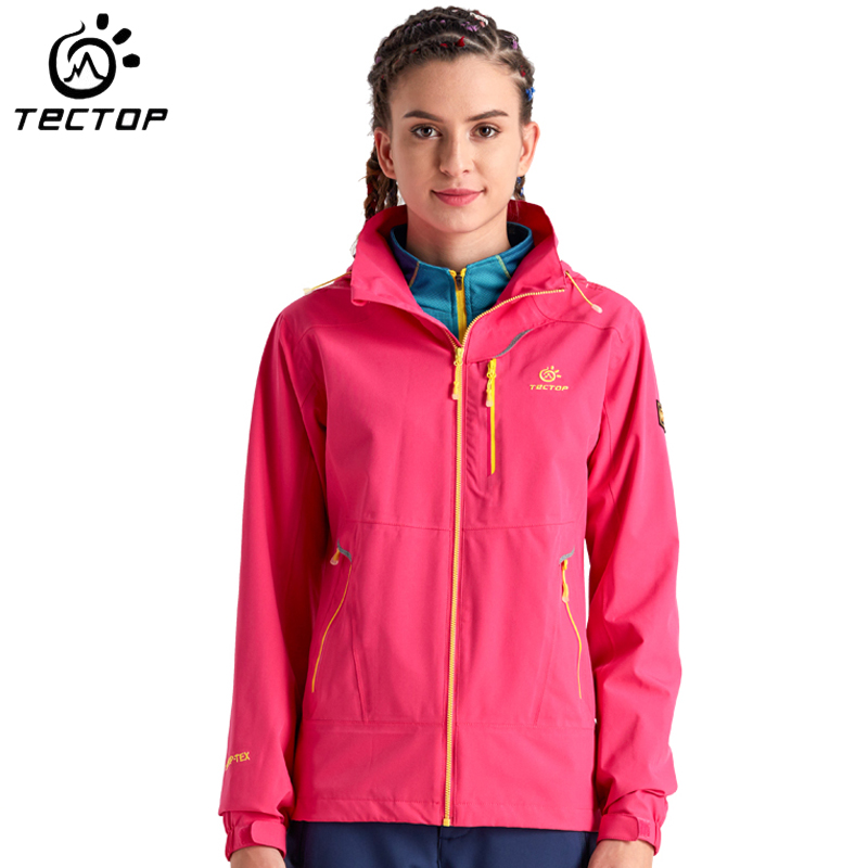 Tectop Women Outdoor Jacket Waterproof Thermal Camping Climbing Coat Women Breathable Windproof Mountain Hiking Jacket blog flashlight outdoor 5led pocket strong waterproof 8 hours to illuminate mountain climbing camping p004