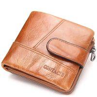 LOEIL Men's wallet leather multi function zip coin purse casual clutch