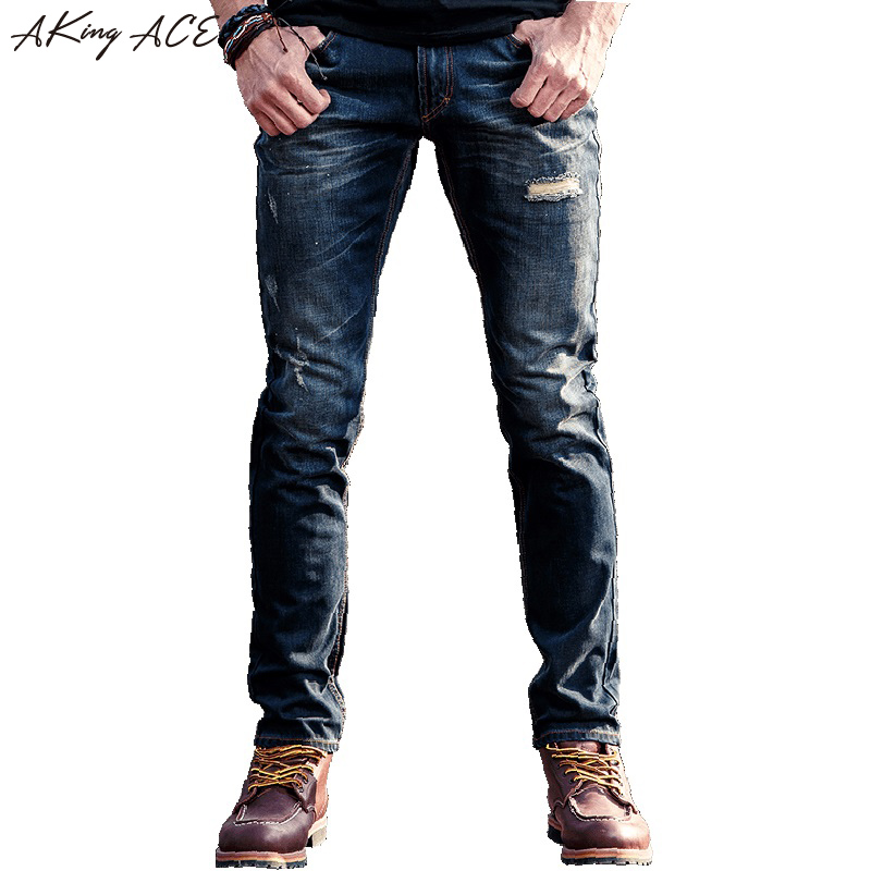 ©AKing ACE High ⑥ quality quality Ripped Jeans Distressed ...