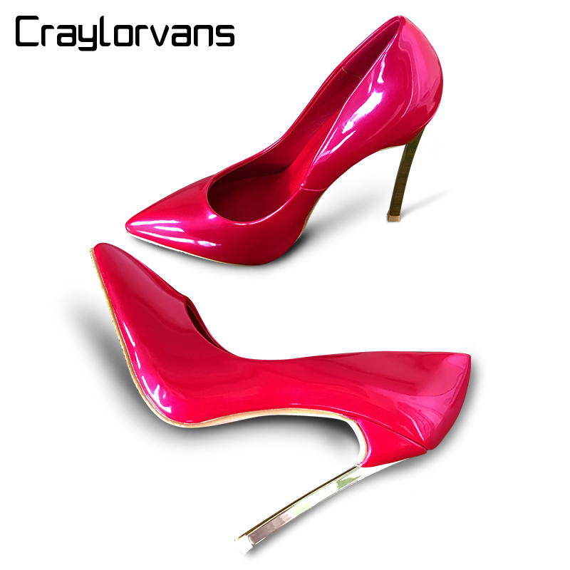 ФОТО Craylorvans Top Quality Brand Style Women Pumps Stiletto 2017 Thin High Heels Sexy Weeding Party Pointed Toe Women shoes