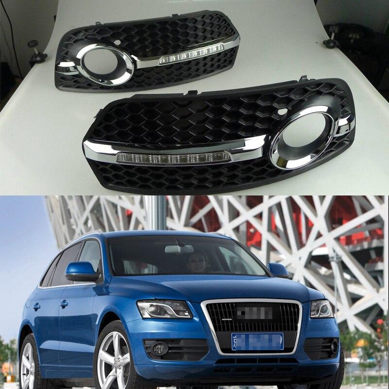 1 Takım iyi kalite Gündüz Çalışan Lambalar Sis Sürüş Işık sis lambası Kapağı ile DRL Audi Q5 için 2009-2013