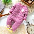 Ребенок весна осень ползунки младенцев одежда один ярус ползунки детская одежда с длинными рукавами руно комбинезон