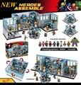 2016 nueva sede sy368 1521 unids super hero avengers kits de edificio modelo minis bloques ladrillos juguetes brinquedos leping diy