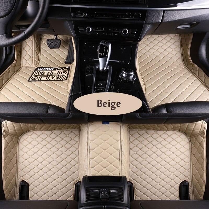 Custom fit car floor mats for Toyota Land Cruiser 200 Prado 150 120 Rav4 Corolla Avalon Highlander Camry car styling liners custom fit car floor mats for toyota camry corolla rav4 prius prado highlander 3d car styling carpet liner ry48